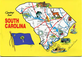 map us south south carolina map remembering letters and postcards