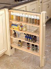 Pull Out Spice Rack Cabinet by Rev A Shelf Filler Pullout Organizer With Wood Adjustable