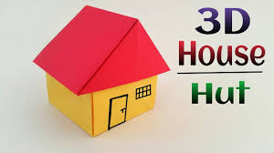 how to make 3d paper house for kids project with cardboard