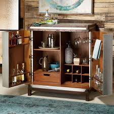 Metal Bar Cabinet Accents