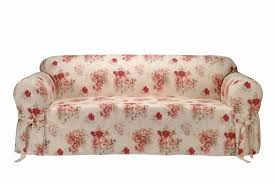 cotton sofa slipcovers saras rose printed sofa slipcover free shipping today