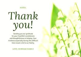 thank you for funeral flowers thank you funeral white flower funeral thank you card funeral