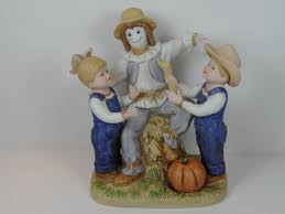 denim days home interior this vintage homco denim days our scarecrow figurine is in