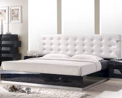 Black King Platform Bed J U0026m Milan Queen King Platform Bed In Black Jm Sku176871bed