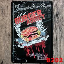 metal signs home decor pueblosinfronteras us 30x20cm burger vintage home decor tin sign wall decor metal sign vintage art poster retro plaque