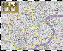 Shanghai China Map by Streetwise Shanghai Map Laminated City Center Street Map Of