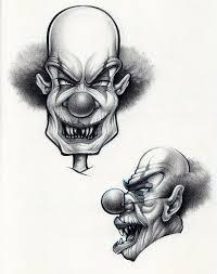 clowns sketch by artvandaleigh on deviantart