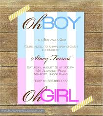 twin baby shower invitation boy and baby shower ideas