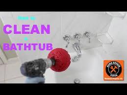how to clean a bathtub fast by home repair tutor