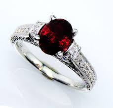 engagement ruby rings images Untreated vivid ruby engagement ring gia certified 14 kt white jpg