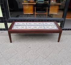 tile top coffee table danish tile top coffee table collectika vintage and retro