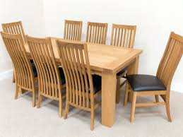 solid oak dining table and 8 chairs for sale rosewood en rustic