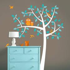 arbre chambre bébé design interieur idée originale décoration chambre bébé thème hibou