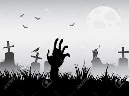 zombie waking for halloween background royalty free cliparts