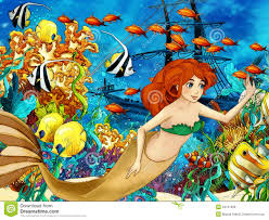 the ocean and the mermaids royalty free stock image image 34767096