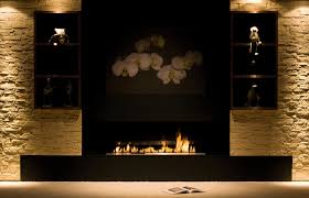 decorations sleek freestanding modern fireplace with black base