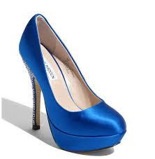 Wedding Shoes Blue Platform Wedding Shoes