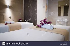 massageroom beautiful modern massage room in spa resort stock photo royalty