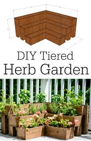 diy tiered herb garden tutorial small outdoor spaces herbs