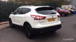 white nissan car nissan qashqai dci tekna white 2015 youtube