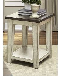 deal alert liberty lancaster weathered bark and white chair side