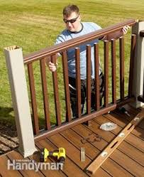 Buy A Banister Rebuild An Old Deck With New Decking And Railings Family Handyman