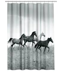 Horse Shower Curtains Sale Photo Print Shower Curtain Gray Horses Sale H U0026m Us
