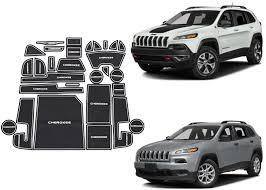 jeep cherokee sport interior 2017 28pc blue interior mat set for 2014 2017 jeep cherokee usa ebay