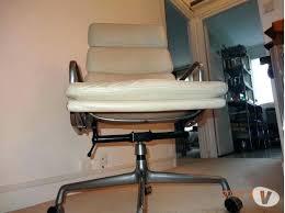 chaise de bureau cuir blanc fauteuil charles eames chaise de bureau cuir blanc beautiful