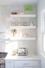 Kitchen Open Shelves Ideas by Cabinets U0026 Drawer White Hanging Open Shelves And Spice Jars Also
