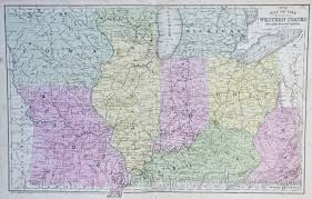 Map Of Midwestern States by Map Of The Western States 1854