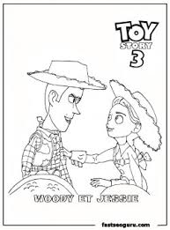 jessie woody toy story 3 printable coloring pages printable
