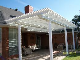 White Vinyl Pergola by Decks And Porches Oakley Portable Building