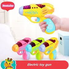 baby toys with lights and sound yuanlebao color boxed baby toys small pistol simulation gun sound