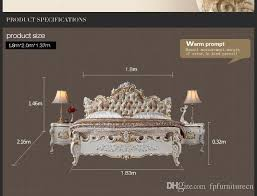 2018 baroque classic bedroom furniture french royalty bed solid