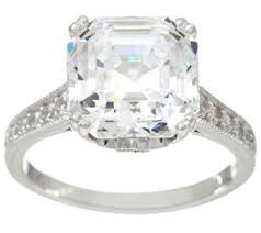 diamonique wedding rings qvc rings wedding promise engagement rings