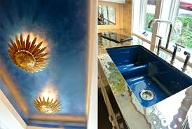 Blue Kitchen Sink Blue In House Beautiful Kitchen Of The Year Butler S Pantry