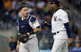 Aaron Judge Gary Sanchez Struggle In Game 1 Loss To Indians Newsday - how the yankees handle slides by gary sanchez and aaron judge