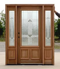 Metal Front Doors For Homes With Glass by Accessories Outstanding Dark Cherry Wood Single Front Door With