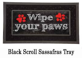 Please Wipe Your Paws Coir Wipe Your Paws Switch Mat 10 X 22 Insert Doormat