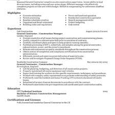 construction resume templates 11 amazing construction resume exles livecareer with regard