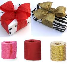 paper ribbon gold crinkle paper ribbon