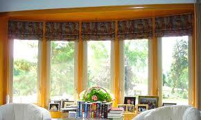 roman shades bay window decor window ideas