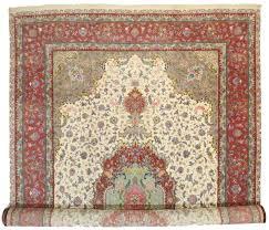persian tabriz silk wool 13x20 rug 10625