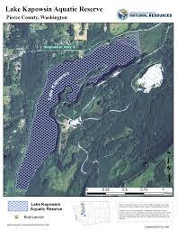 Map Of Lake Washington by Lake Kapowsin Wa Dnr