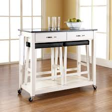 Kitchen Islands And Trolleys Home Decorators Collection 22 In W Granite Top Kitchen Island