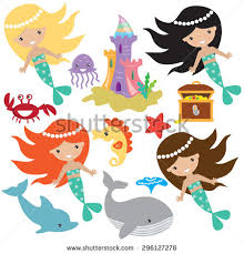 cartoon mermaid stock images royalty free images u0026 vectors