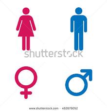 Bathroom Sign Language Vector Male Female Icon Set Stock Vector 187097942 Shutterstock