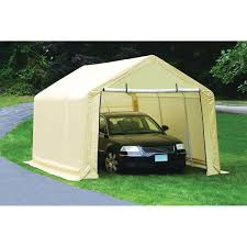 Garage With Carport Outdoor Bring Your Porch To Life With Simple Portable Garage