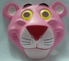 the pink panther vintage halloween mask 1992 rubies pvc classic
